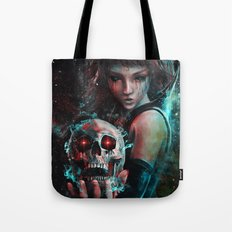 Skull Mage Dark Fantasy Original Character Painting Tote Bag