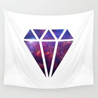 diamond Wall Tapestries featuring Diamond by eARTh