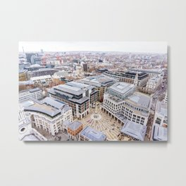 City View over London from St. Paul's Cathedral 2 Metal Print