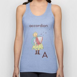 Accordion-playing baboushka  Unisex Tank Top