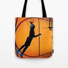 Basketball Player Silhouette Tote Bag