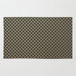 Smal black, white and gold dots pattern Rug