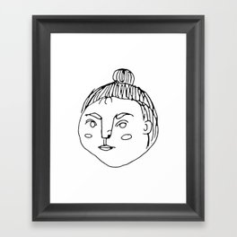 That Bun Gal // Cafe Customer Series Framed Art Print