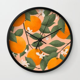 fresh citrus Wall Clock
