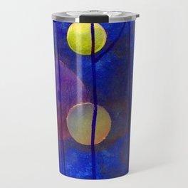 blue sphere Travel Mug
