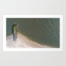 Undefined Jetty Art Print