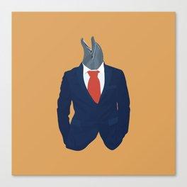Average Businessman Canvas Print