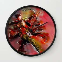 Red Hunter Wall Clock