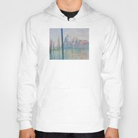 monet Hoodies featuring Claude Monet - Le Grand Canal by Elegant Chaos Gallery