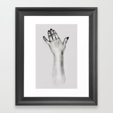 lady's hand Framed Art Print