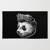 funky Area & Throw Rugs featuring Funky panda by barmalisiRTB