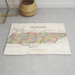 Vintage Map of Tennessee (1827) Rug