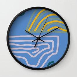 landscape reflection Wall Clock