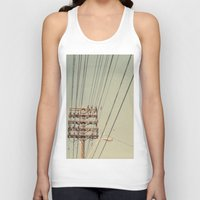 the wire Tank Tops featuring wire by erinreidphoto