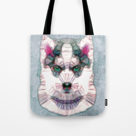 abstract husky puppy Tote Bag