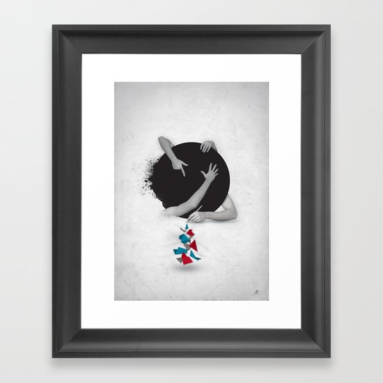 Something in Progress Framed Art Print