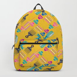 The Hair Basics in Gold Backpack