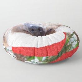 Cute Christmas Sloth Floor Pillow
