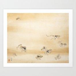 Takeuchi Seiho - A Fine Day During the Rainy Season Art Print