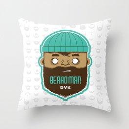 B E A R D M A N Throw Pillow