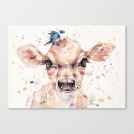 Little Calf Canvas Print
