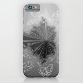 Gray Diamond Crystals Bling iPhone Case