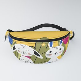 Spring with rabbits Fanny Pack