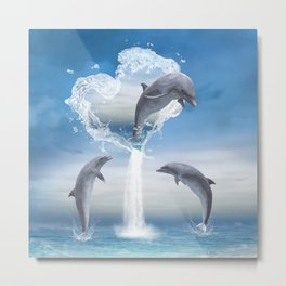 The Heart Of The Dolphins Metal Print