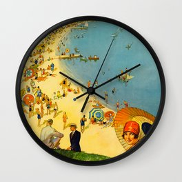Chicago Vacation City, 1920s Travel Poster Wall Clock