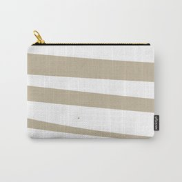 Debra Stripes Light Brown and White Background Carry-All Pouch
