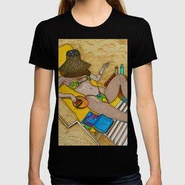 KendallJenner Sandy beach summer beach vacation T-shirt
