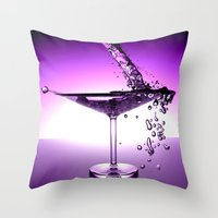 martini Throw Pillows featuring Martini by Littlebell