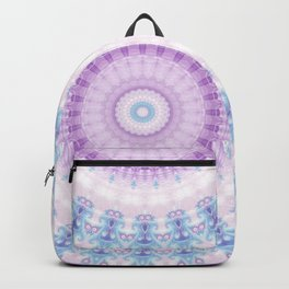 Pastel Purple and Blue Mandala Backpack