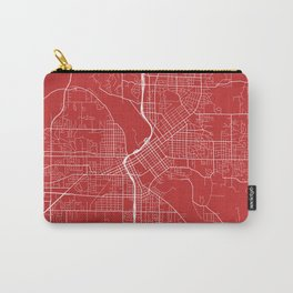 Cedar Rapids Map, USA - Red Carry-All Pouch