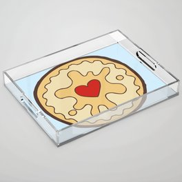 Jammy Dodger British Biscuit Acrylic Tray