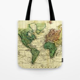 Vintage Map of The World (1823) - Stylized Tote Bag