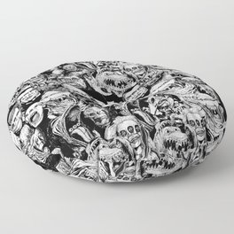So Many Monsters Floor Pillow