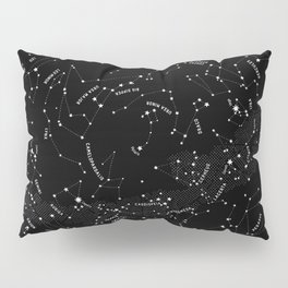 Constellation Map - Black Pillow Sham