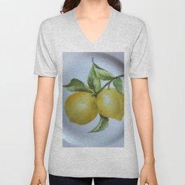 Lemon Botanical Unisex V-Neck