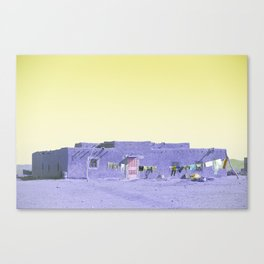 Moroccan Dar in Purple Canvas Print