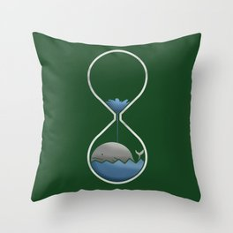 whale hourglass Throw Pillow