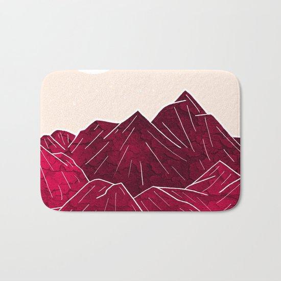 Ruby Mountains Bath Mat