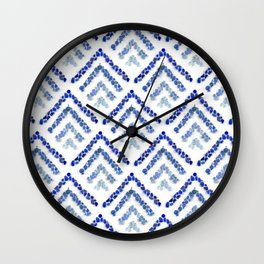 Sea glass - Treeometric - blue Wall Clock