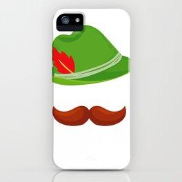 Funny Oktoberfest Face German Hat  Design  iPhone Case