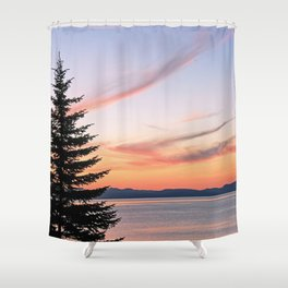 Tahoe Sunset Shower Curtain