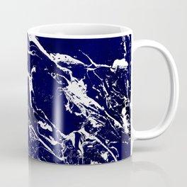 Modern Navy blue watercolor marble pattern Coffee Mug