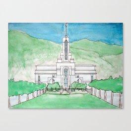 Mt. Timpanogos Temple Canvas Print