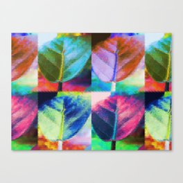 Abstract Leaf Colors Canvas Print