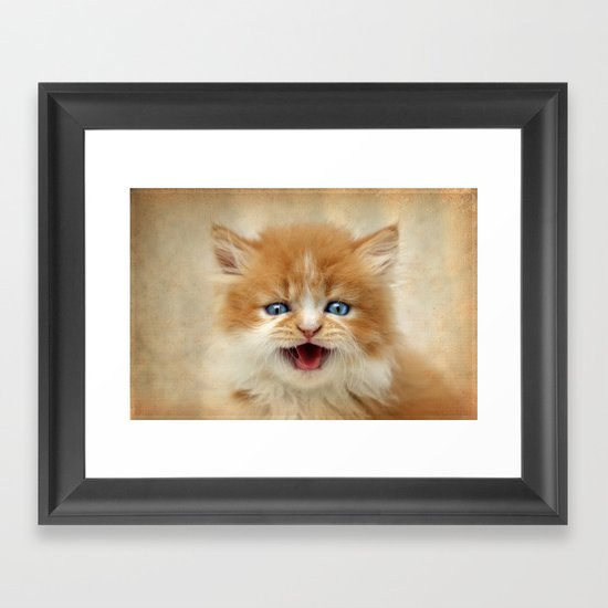 Where's My Dinner? Framed Art Print