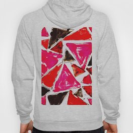 Red Pink Triangle Hoody